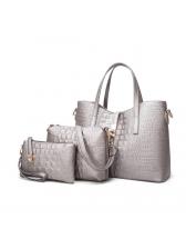 Elegant Alligator Print Three Pieces Bags