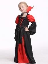 Halloween Color Block Vampire Suit For Girl Cosplay