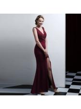 Chic Solid Sexy Elegant Evening Dress