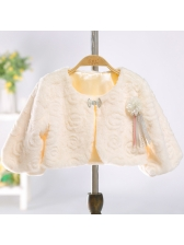 Easy Matching Solid Beautiful Coat For Girl