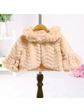 Solid Flare Sleeves Girl's Coat For Princess Dress
