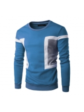 Fashionable Patchwork Crew Neck Sweatshirts