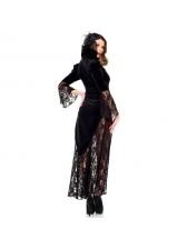 Halloween Fashion Patchwork Vampire Devil Witch Dress Cosplay