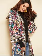 Floral Printed Loose Long Beach Thin Coat