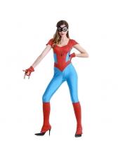 Spiderman Cosplay Halloween Jumpsuit For Women
