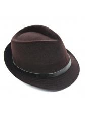 Korean Design Fashion Solid Windproof Fedora Hat