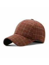 Winter Fashion Plaid Casual Versatile Baseball Cap