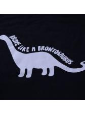 Leisure Dinosaur Printing Letter Black Children Sets