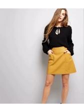 New Arrival High Waist Pu Pocket Women's Skirt