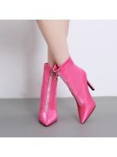 Sexy Stiletto Heel Zipper Up Mid Calf Boots