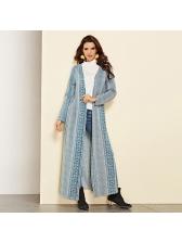 Autumn Hot Sale Geometric Printed Long Coat