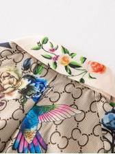 Retro Style Floral Tie-Wrap Boutique Shirt Dress