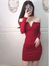 Sexy Halter Off The Shoulder Bodycon Dresses