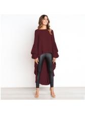 Fashion Ruffles Long Sleeve Asymmetrical Blouses