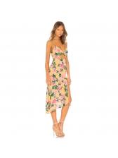 Fashion V Neck Hollow Out Floral Sundress