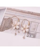 Elegant Flower Rhinestone Fashion Earrings
