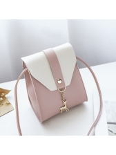 Easy Matching Contrast Color Hasp Mini Shoulder Bags