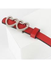 Versatile Solid Heart Vintage Belt For Women