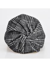 Korean Design Plaid Windproof Pullover Hat Unisex