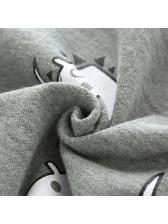 Creative Dinosaur Print Hooded Zipper Baby Coat