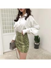 Stylish Snake Print A-Lined Mini Skirt