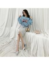 Korean Printed Single-Printed Split Women Sets