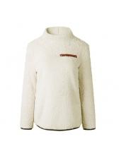 Autumn High Neck Solid Plush Warmest Sweatshirt