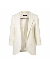 Korean OL Style Fitted Solid Women\\\\\\\'s Casual Blazers