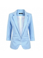 Korean OL Style Fitted Solid Women's Casual Blazers