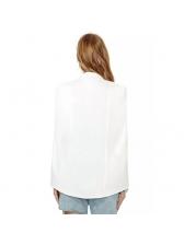 Euro Sleeveless Cloak Solid Blazer For Women