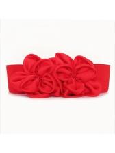 Fashion Solid Chiffon Flower Women Belt For Dress