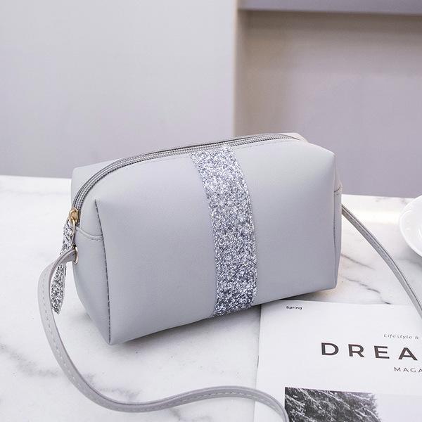 Minimalist Contrast Color Zip Crossbody Bags