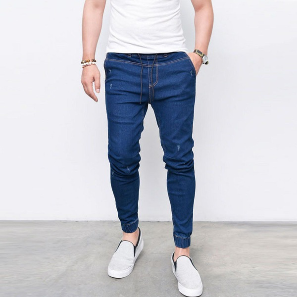 Hot Sale Solid Fitted Fashion Jeans For Men