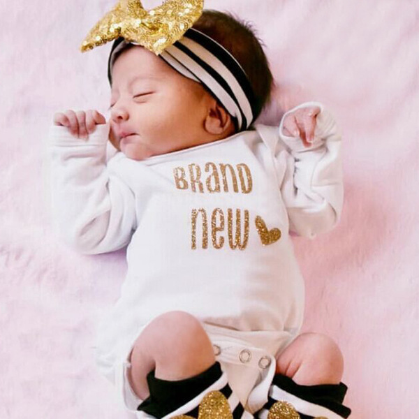 Letter Baby Bodysuit With Leg Warmer And Headband