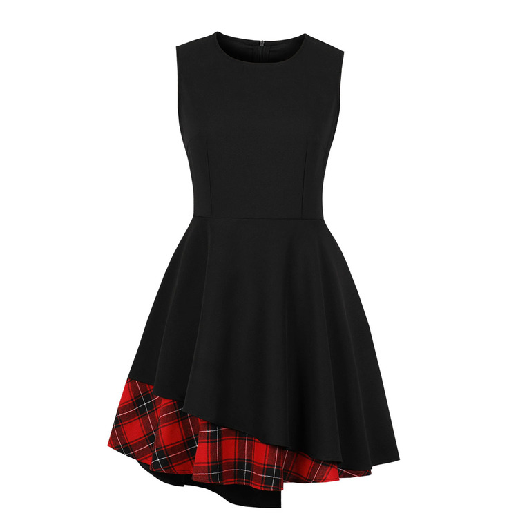 Hot Sale Patchwork Irregular Fitted Dress For Women