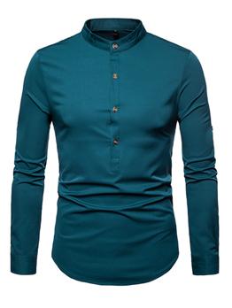 Solid Long Sleeves Men Shirt