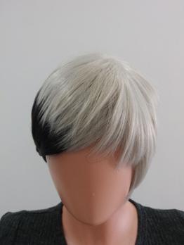 Short Shaggy Side Bang Colormix High Temperature Fiber Synthetic Wigs