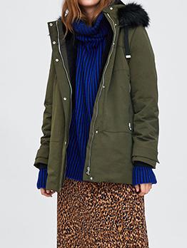 Furry Hood Waterproof Womens Winter Coats