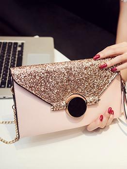 Korean Brightly Sequin Patchwork Mini Clutch Bags