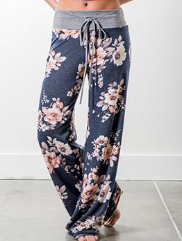 Causal Printed Loose Long Pants For Womens