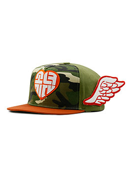 Cute Camouflage Wings Contrast Color Baseball Cap