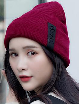 Korean Hot Sale Solid Thickening Woolen Beanie