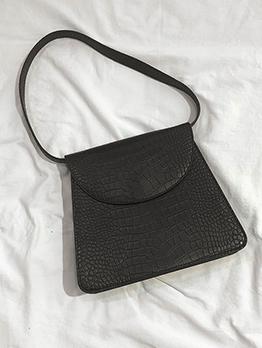 Casual Trapezoid Shape Alligator Print Leather Bags