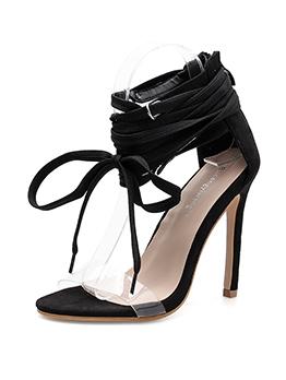 Sexy Pvc Black Heels Wholesale Gladiator Sandals