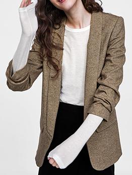 Fashion Hot Sale Cotton Wool-Blend Womens Blazer