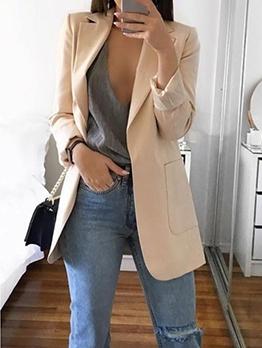 Hot Sale Lapel Plaid Loose Blazer For Women