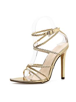 European Style Strappy Open Toe High Heel Sandals