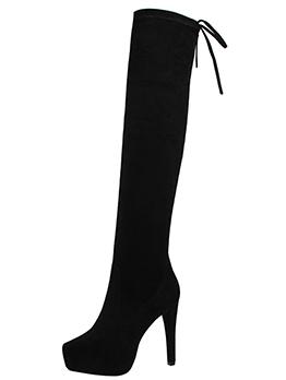 Winter High Heel Platform Wholesale Black Tall Boots