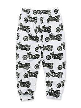 Casual Motorcycle Printed Baby Boy Long Pants