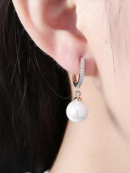 Hot Sale Zircon Pearl Pendant Earrings For Women